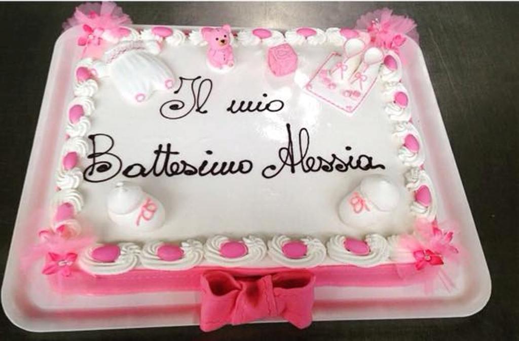 Top Pasticceria Modenese | Torta Battesimo ricoperta Pasta di Zucchero  QY99