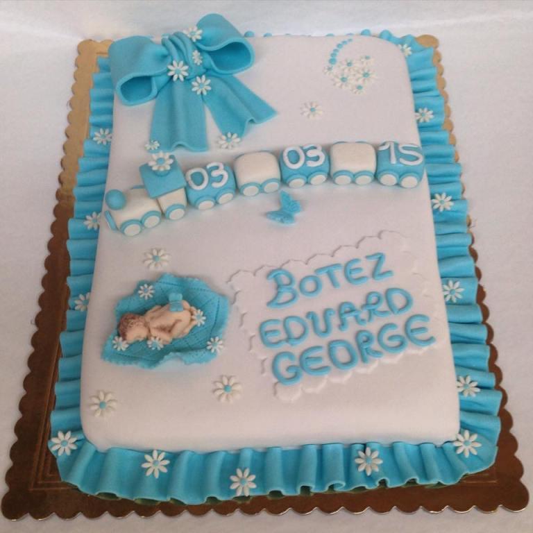 Super Pasticceria Modenese | Torta Battesimo ricoperta Pasta di Zucchero  BO78